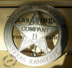 Authentic Reproductions of Old West Badges.