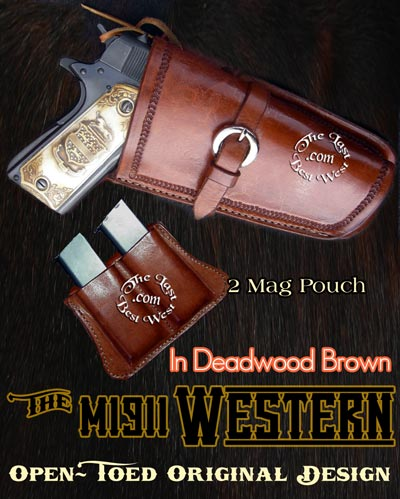 Western holster for a  M1911 Colt.