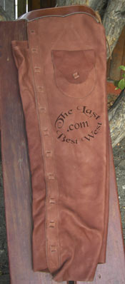 Open Range Custom Leather Chaps.