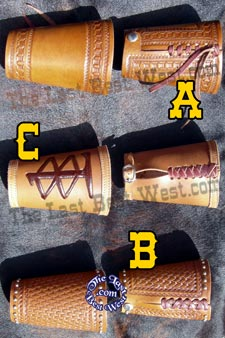 Leather Cowboy Cuffs.